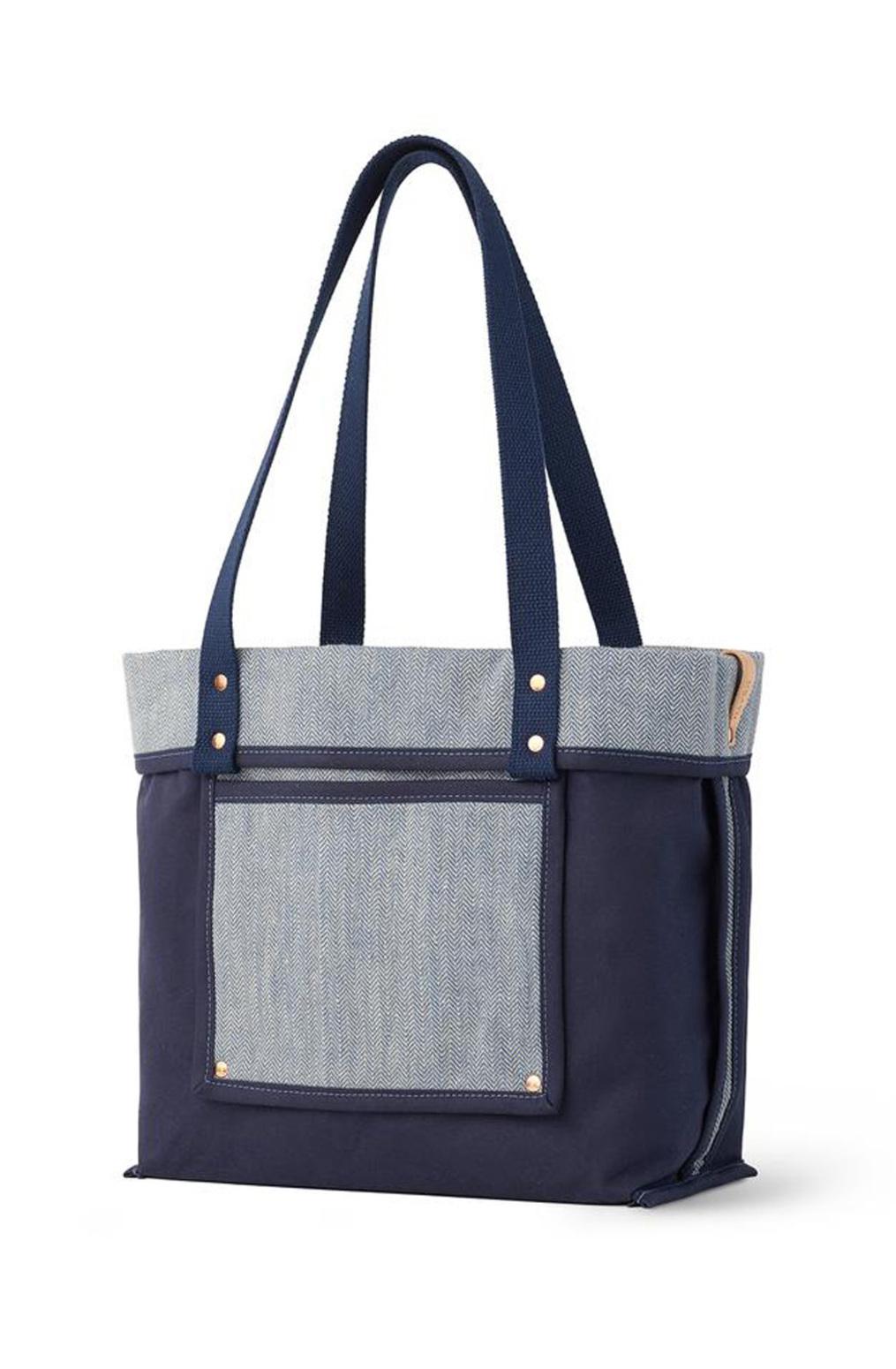 Alabama chanin heath sews reversible linen tote bag