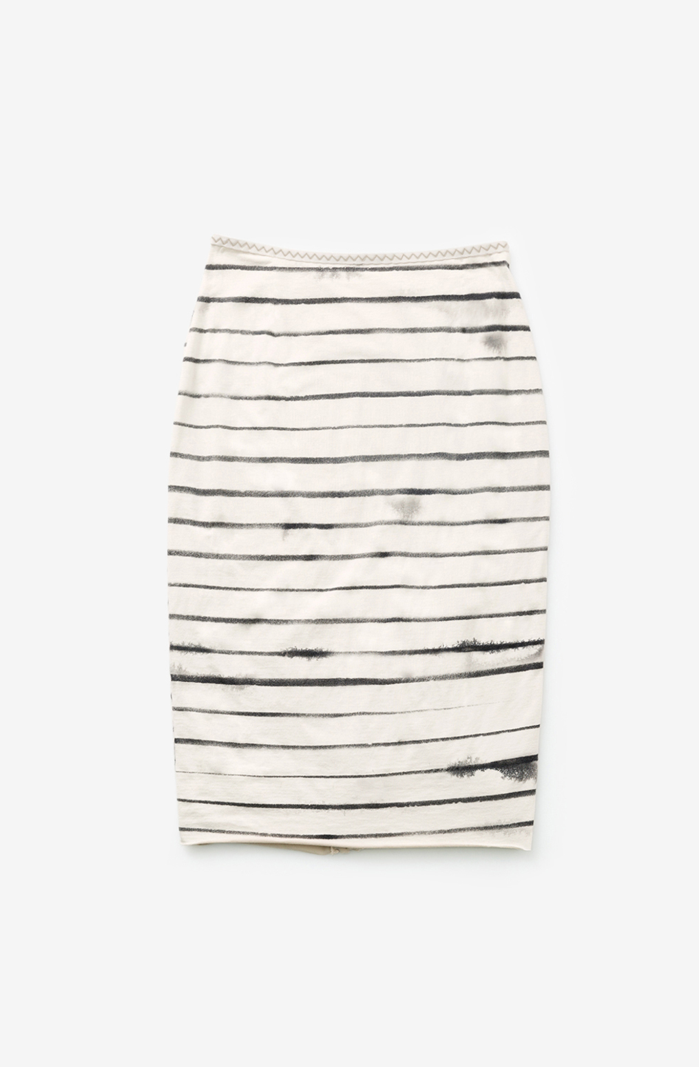 Faded stripe pencil skirt the school of making