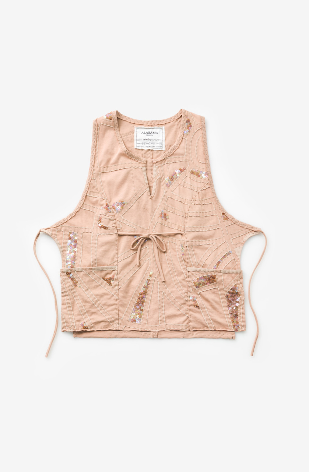 Alabama chanin  organic cotton  womens smock top  tweed  applique