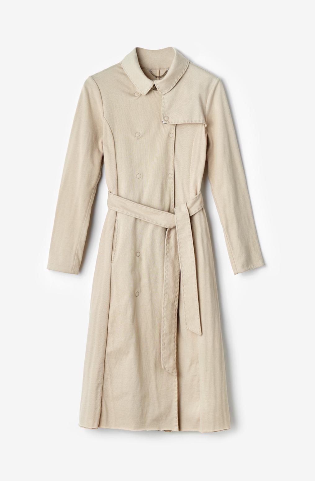 Alabama chanin  organic cotton  womens trench coat  classic  modern  outerwear