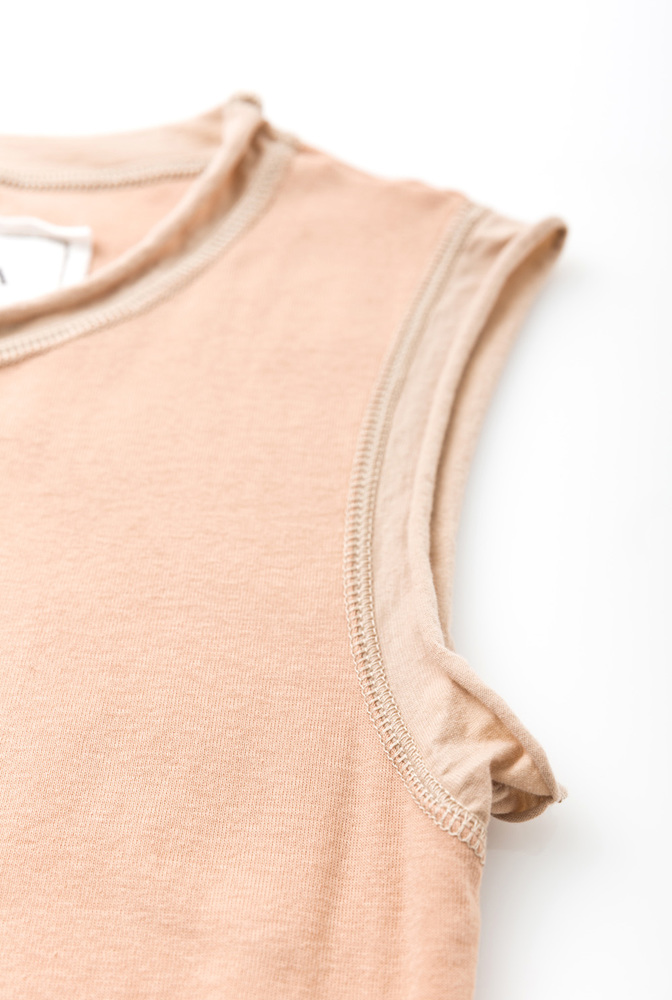 Alabama chanin  organic cotton  womens essential layering dress  comfortable  lightweight  rib