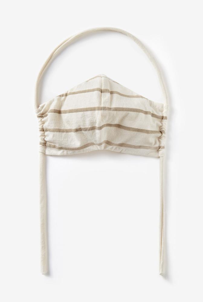 Alabama chanin  organic cotton  face mask  reusable  lightweight  stripe