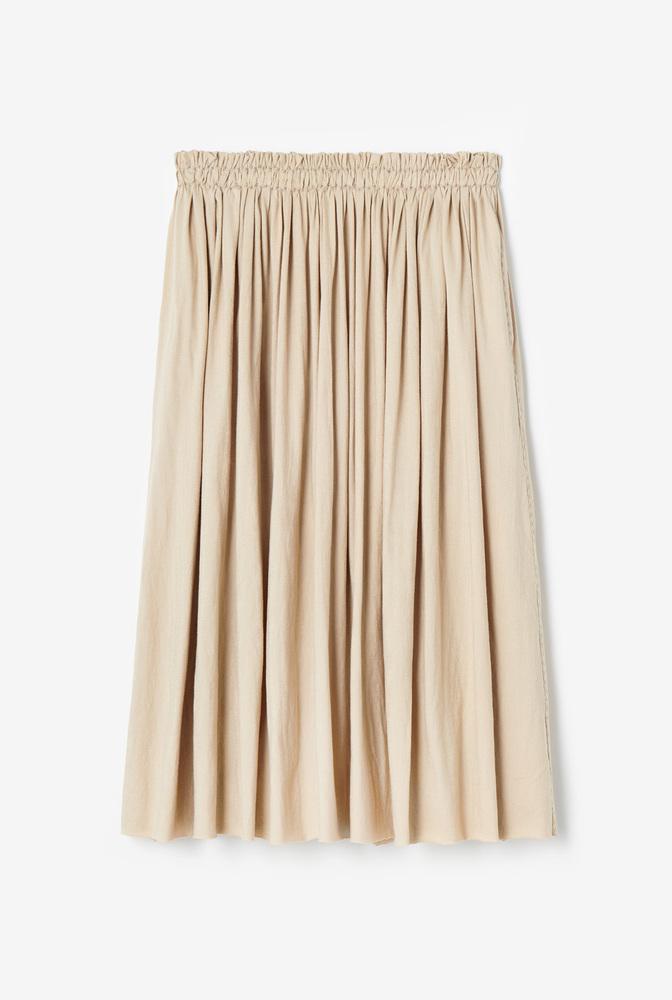 Alabama chanin  organic cotton  lightweight  pleated skirt