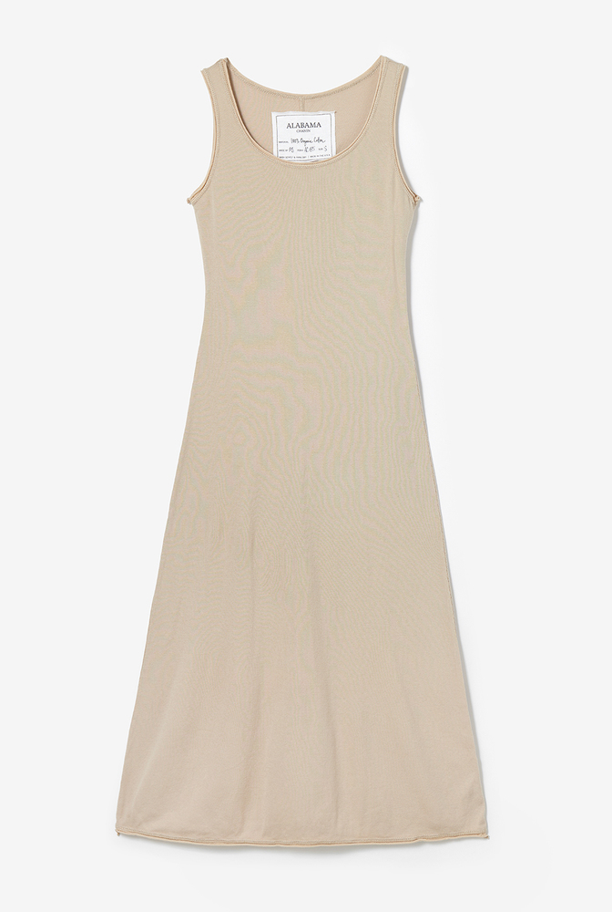 Alabama chanin  organic cotton  rib  slip dress  leisurewear  everyday  layering