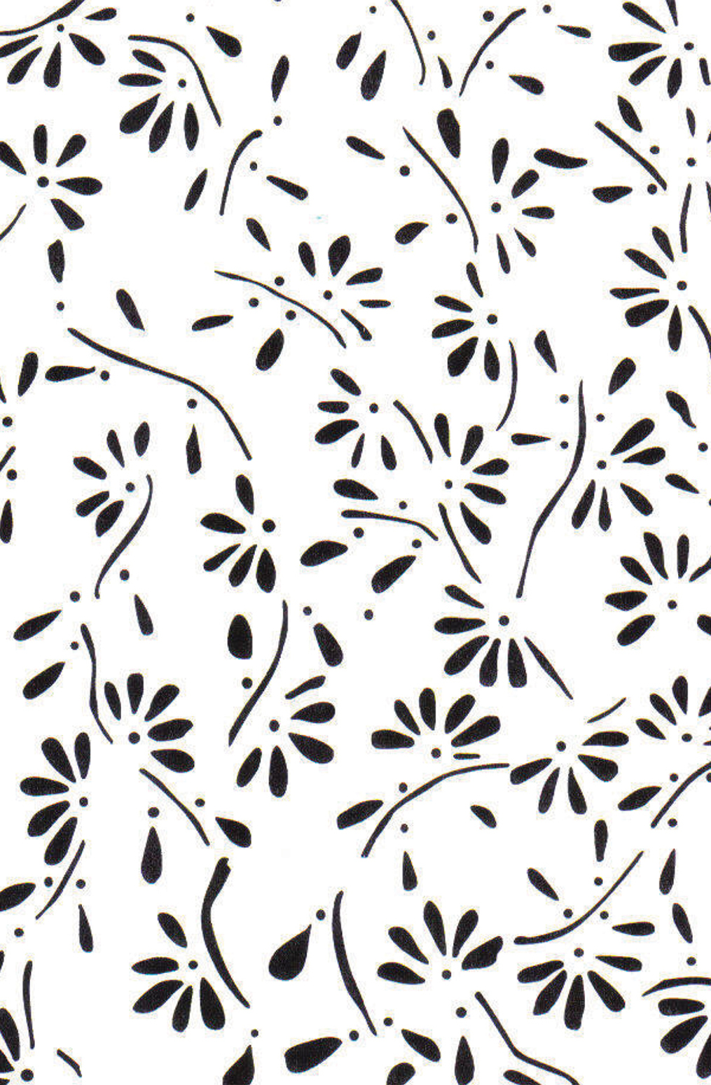 The school of making climbing daisy stencil 1
