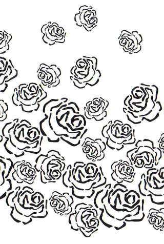 The school of making kristinas rose stencil 1