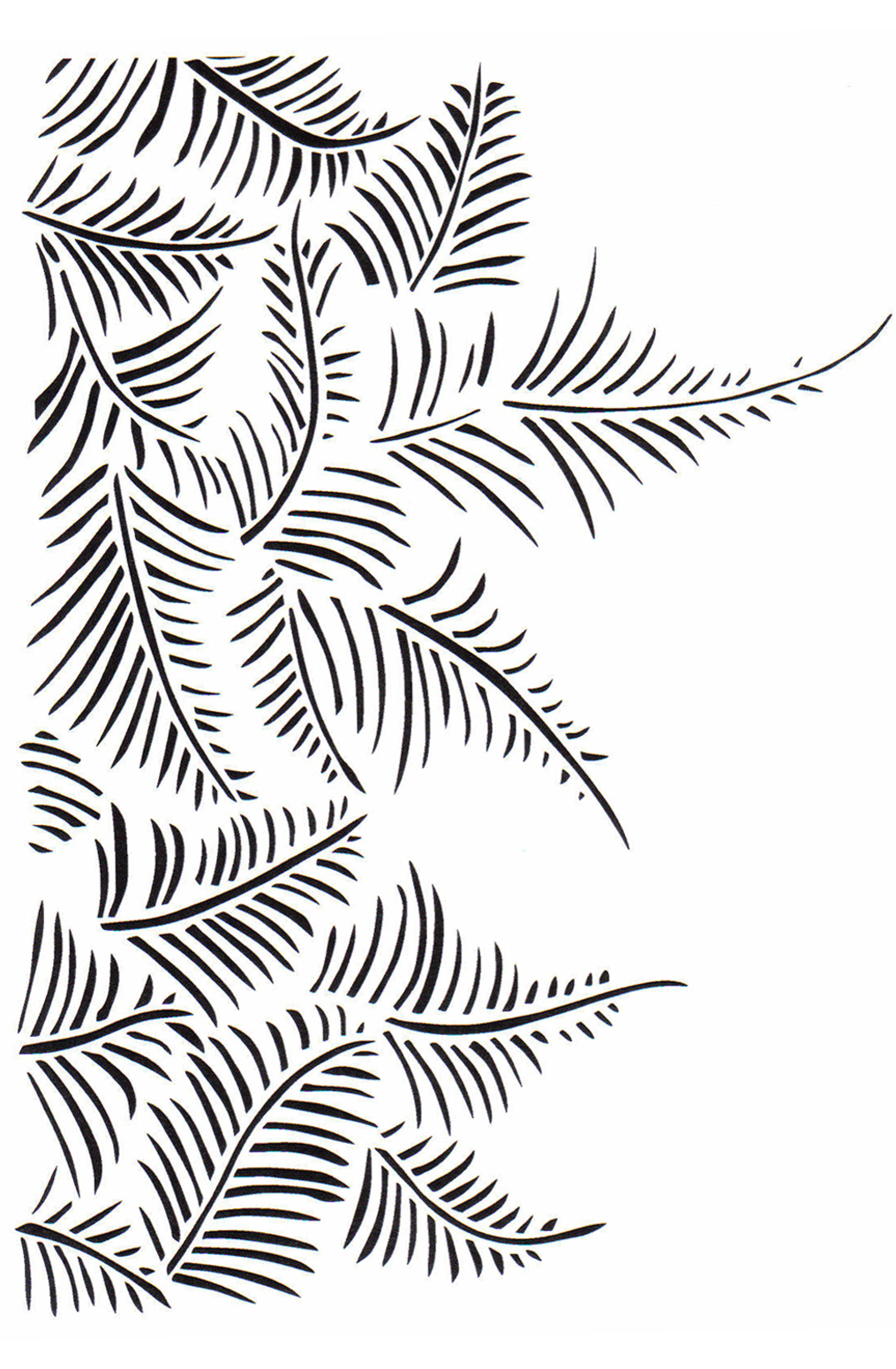 The school of making fern stencil 1