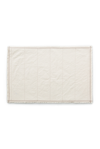 Alabama chanin top stitch organic cotton placemat 3