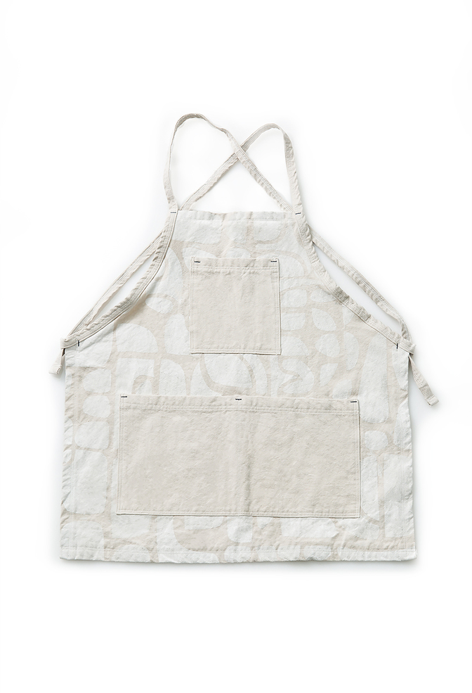 Alabama chanin patterned canvas tony apron 2