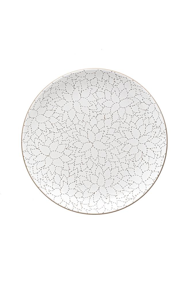 Heath ceramics alabama chanin camellia etched dinner plate