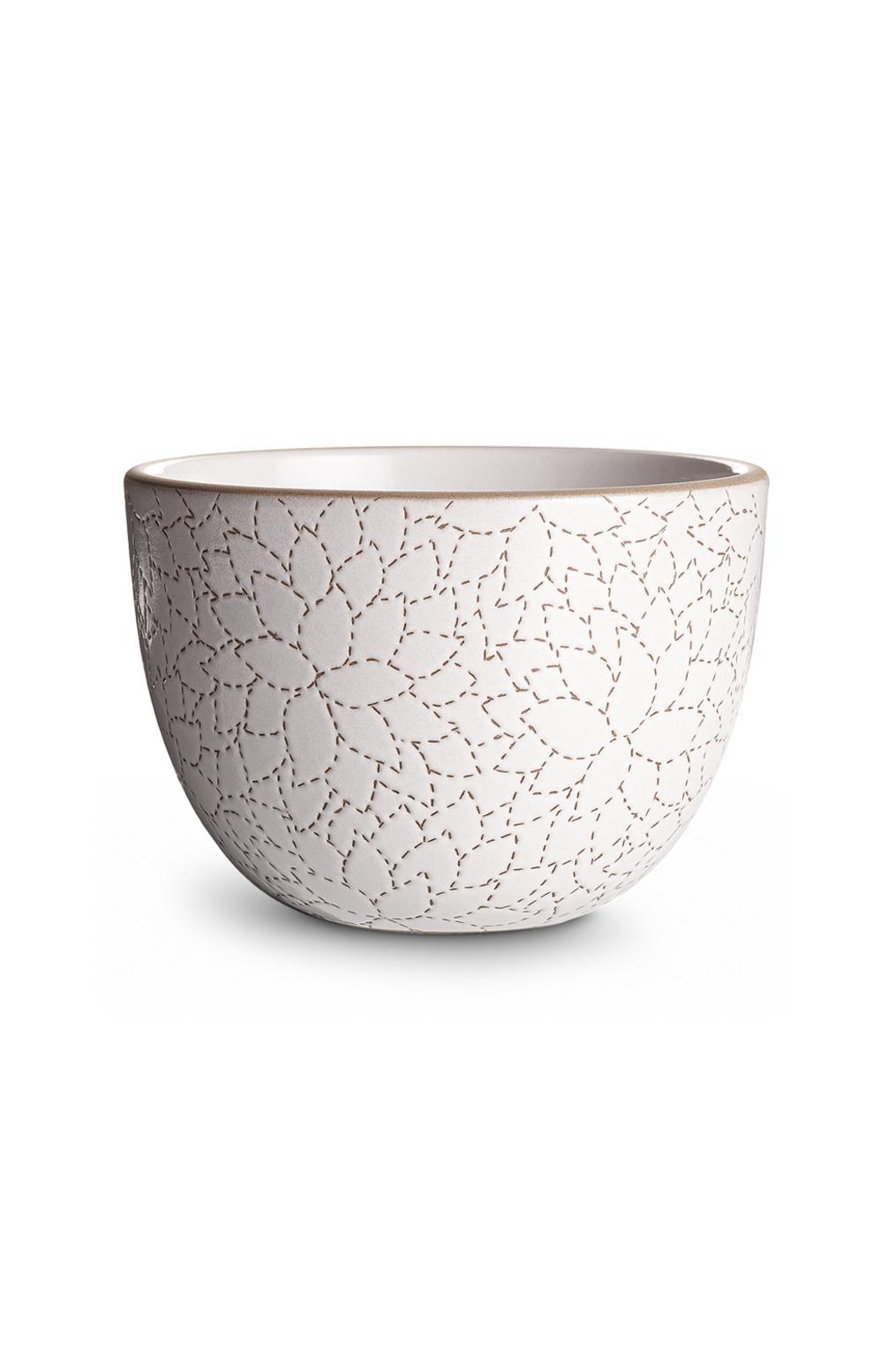 Heath ceramics alabama chanin camellia etched deep serving bowl