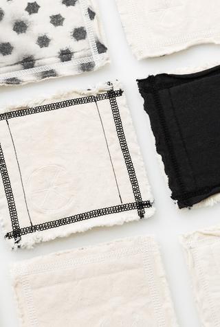 Alabama chanin top stitch organic cotton coasters 5