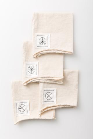 Alabama chanin organic cotton cocktail napkins 1