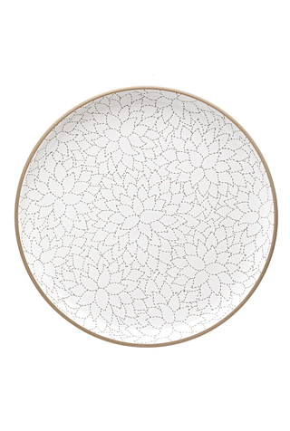 Camellia Etched Serving Platter