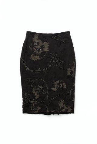 Antheia skirt   pencil skirt   flora   vida   black   25932   abraham rowe 1