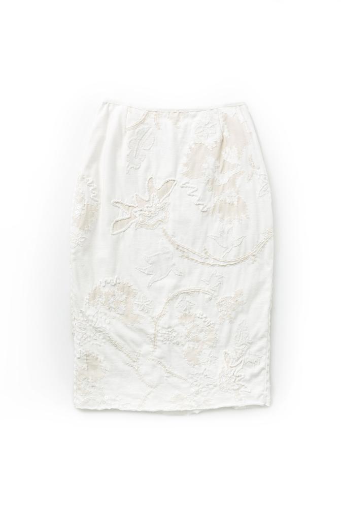 Alabama chanin hand embroidered pencil skirt 1