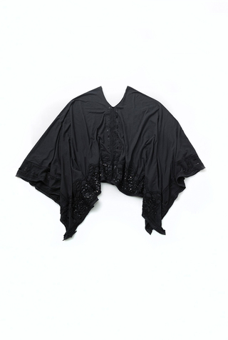 Beaded Lace Poncho