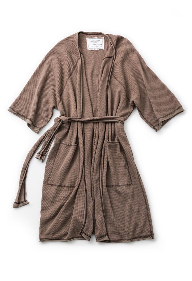 Alabama chanin organic cotton waffle bath robe 7