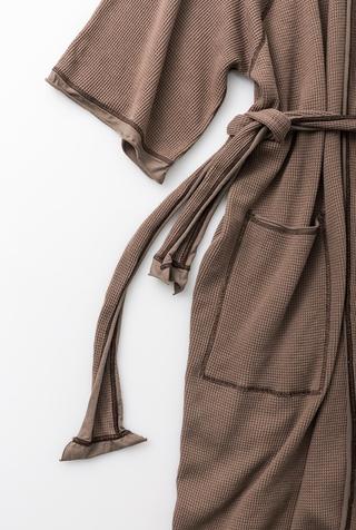Alabama chanin organic cotton waffle bath robe 8