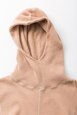 Alabama chanin hooded waffleknit thermal turtleneck 4