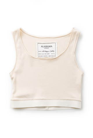 Alabama chanin womens ribknit crop tank 4
