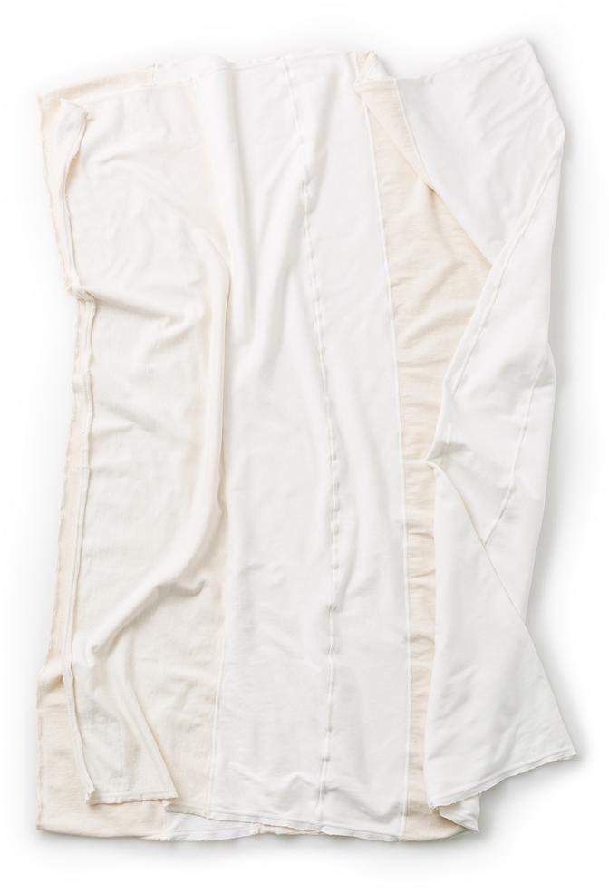 Alabama chanin stripe organic cotton throw 5
