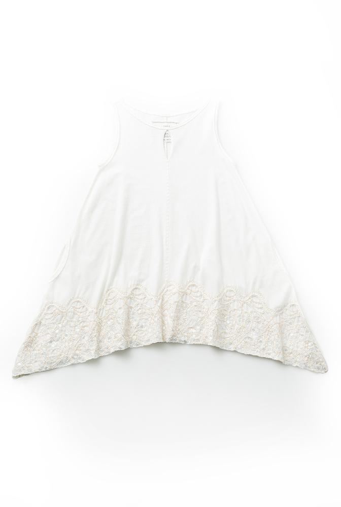 Alabama chanin beaded aline cotton tunic 1