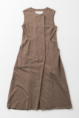 #27235: Medium Double-Breasted Long Knit Dress