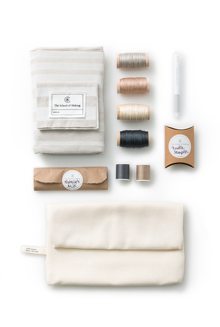 The school of making embroidery sampler scarf diy kit 2