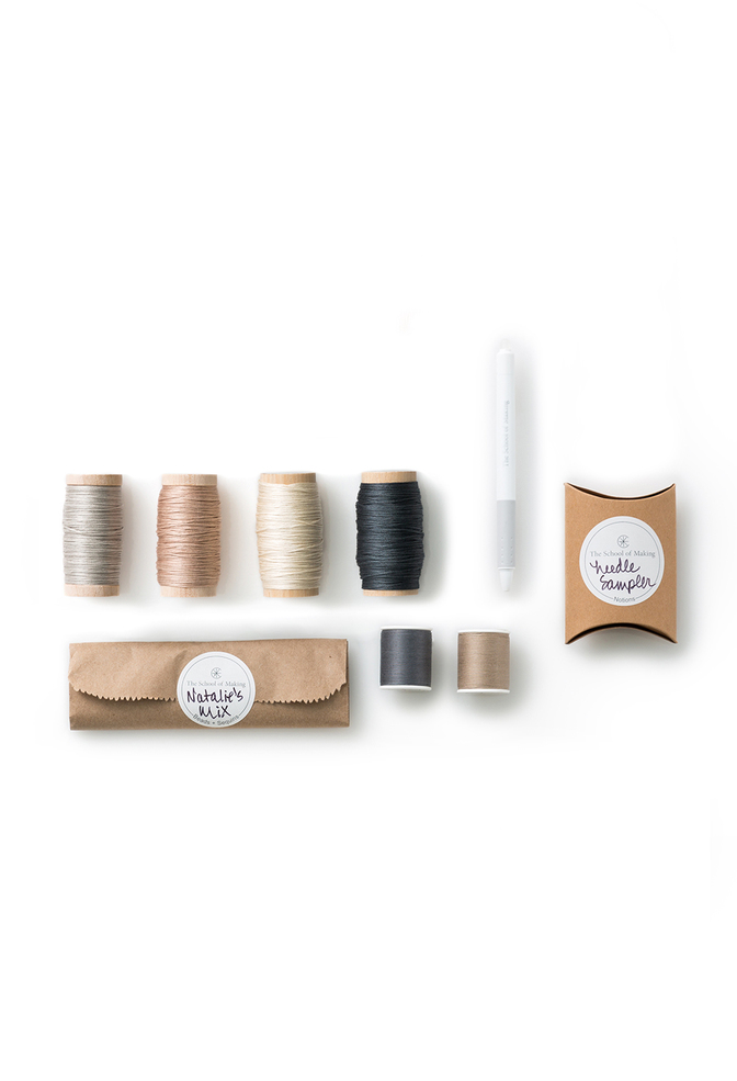 The school of making embroidery sampler notions kit 1
