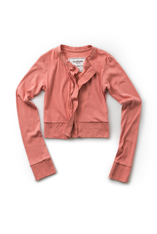 The school of making crop cardigan sunset basic