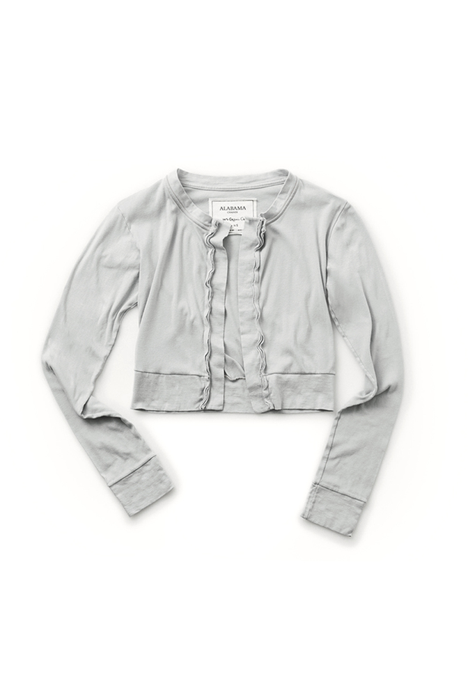 The school of making crop cardigan basic parchment 1