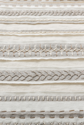 The school of making stripe scarf diy kit white natural