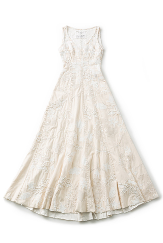 Embroidered Wedding Gown | Bridal | Alabama Chanin - Alabama Chanin