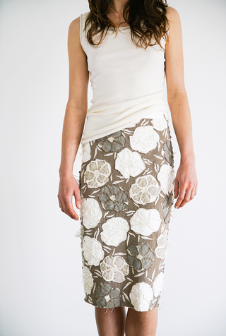 Alabama chanin floral pencil skirt 2