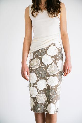 Alabama chanin floral pencil skirt 2