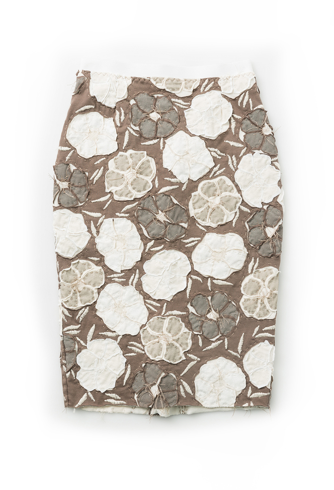 Alabama chanin floral pencil skirt 3