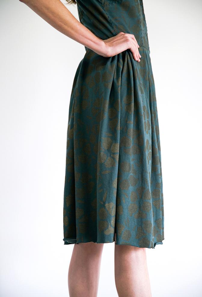 Alabama chanin floral dress 1