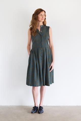 Alabama chanin floral dress 2
