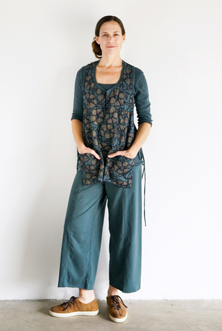 Alabama chanin wide leg organic cotton pant 1