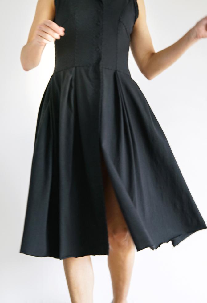 Alabama chanin womens pleated skirt dress 6