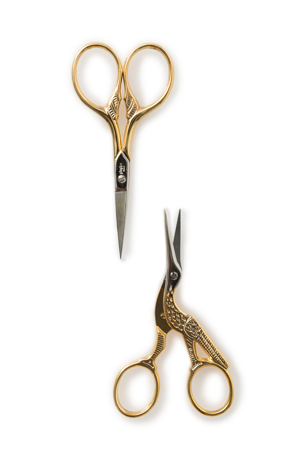 The school of making gingher gold handled embroidery scissors 1
