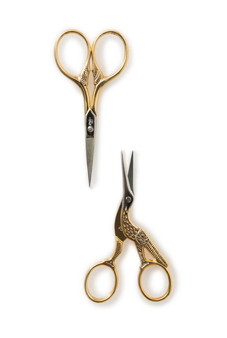Gold-Handled Embroidery Scissors