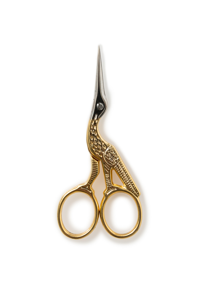 The school of making gingher gold handled embroidery scissors 3
