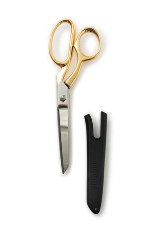 The school of making gingher gold handled knife edge dressmaker shears 3
