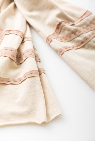 Alabama chanin embroidered cotton scarf 5