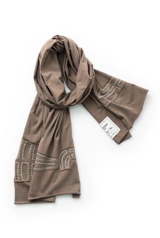 Alabama chanin embroidered cotton scarf 1