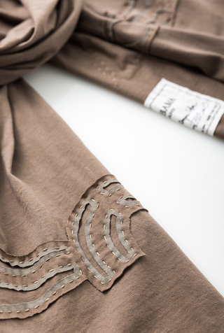 Alabama chanin embroidered cotton scarf 2