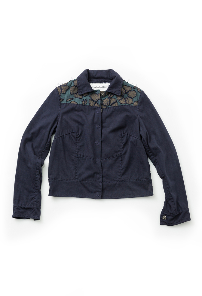 Alabama chanin cotton women s embroidered jacket 1