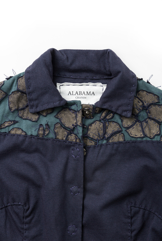 Alabama chanin cotton women s embroidered jacket 2